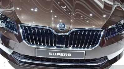 2015 Skoda Superb grille at 2015 Geneva Motor Show (1)