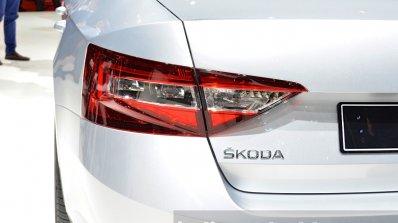 2015 Skoda Superb left taillight at 2015 Geneva Motor Show