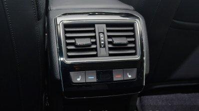 2015 Skoda Superb rear ac vents at 2015 Geneva Motor Show
