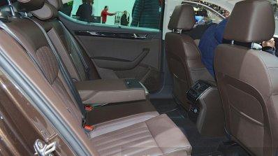 2015 Skoda Superb rear seat at 2015 Geneva Motor Show (1)