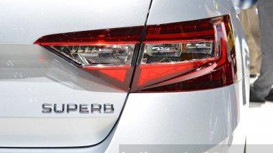 2015 Skoda Superb right taillight at 2015 Geneva Motor Show