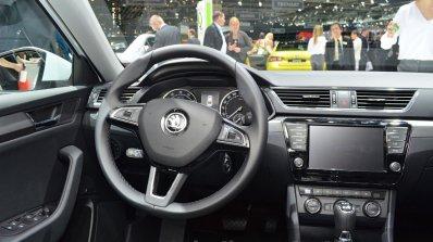 2015 Skoda Superb steering wheel at 2015 Geneva Motor Show