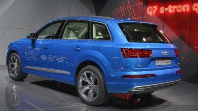 Audi Q7 E-tron rear three quarter view at 2015 Geneva Motor Show