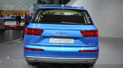 Audi Q7 E-tron rear view at 2015 Geneva Motor Show