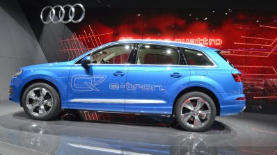 Audi Q7 E-tron side view at 2015 Geneva Motor Show