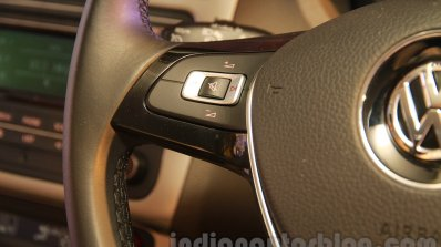 2015 VW Vento facelift steering mounted controls