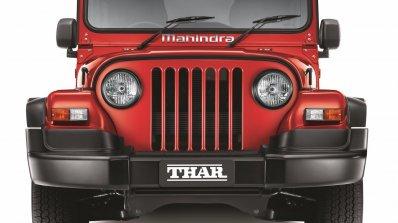 2015 Mahindra Thar facelift front press shots