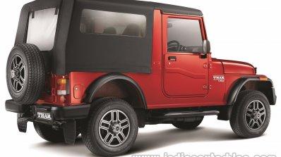 2015 Mahindra Thar facelift rear quarter press shots