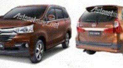 2015 Daihatsu Xenia Rebadged Toyota Avanza Images Leaked