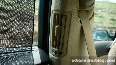 Audi A6 Matrix air vent on the B-Pillar review