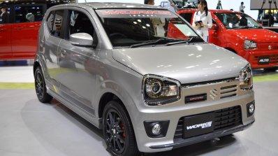 Suzuki Alto Works front three quarter at the 2015 Tokyo Motor Show