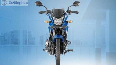 Honda CB Shine SP blue front official image leaked