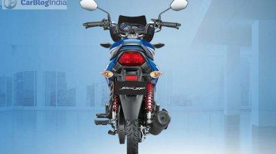 Honda CB Shine SP blue rear official image leaked