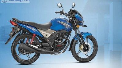 Honda CB Shine SP blue rear quarter official image leaked