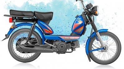 TVS XL 100 4-stroke blue