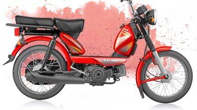 TVS XL 100 4-stroke red