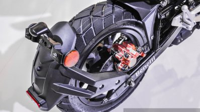 Benelli Tornado Naked T-135 rear tyre hugger at Auto Expo 2016