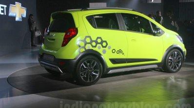 Chevrolet Beat Activ rear three quarter at 2016 Auto Expo