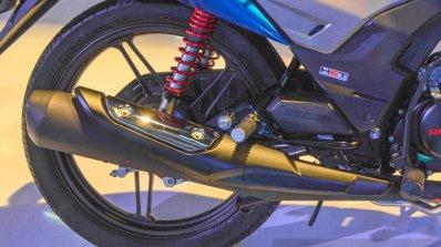 Honda CB Shine SP exhaust at Auto Expo 2016