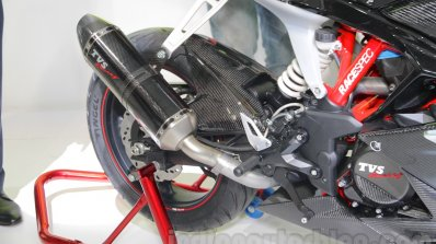TVS Akula 310 Racing Concept exhaust at Auto Expo 2016