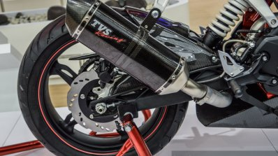 TVS Akula 310 exhaust at Auto Expo 2016