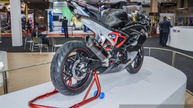 TVS Akula 310 rear disc brake at Auto Expo 2016