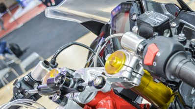 TVS Akula 310 steering damper at Auto Expo 2016
