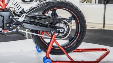 TVS Akula 310 swingarm at Auto Expo 2016