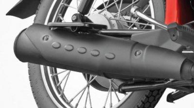 TVS XL 100 black silencer cover