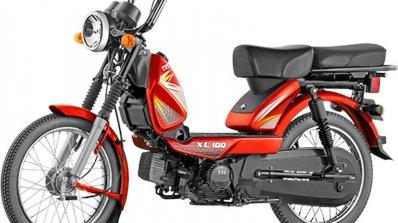 TVS XL 100 red front quarter