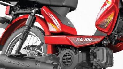 TVS XL 100 red graphics