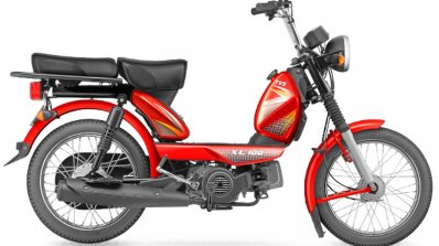TVS XL 100 red side