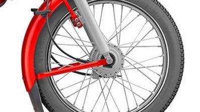 TVS XL 100 spoke wheel
