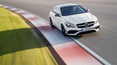 2016 Mercedes AMG CLA 45 facelift front dynamic unveiled