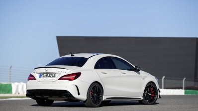 2016 Mercedes AMG CLA 45 facelift rear three quarter unveiled