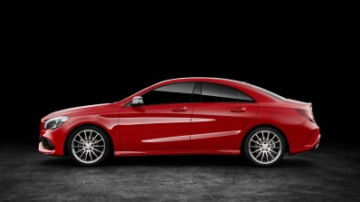 2016 Mercedes CLA facelift side unveiled