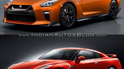 2017 Nissan GT-R vs 2015 Nissan GT-R front three quarters left side