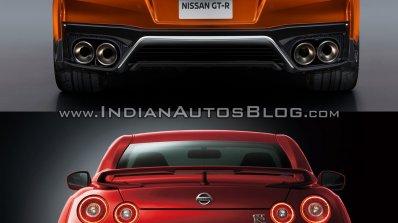 2017 Nissan GT-R vs 2015 Nissan GT-R rear