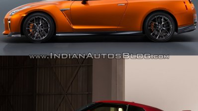 2017 Nissan GT-R vs 2015 Nissan GT-R side profile