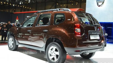 Dacia Duster Essential rear three quarters at the 2016 Geneva Motor Show