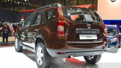 Dacia Duster Essential taillamp and bumper at the 2016 Geneva Motor Show