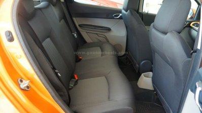 Tata Tiago rear seat on display at a Goan dealership