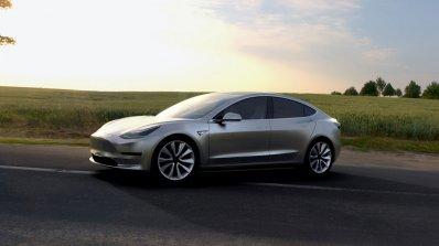 Tesla Model 3 official image front three quarters