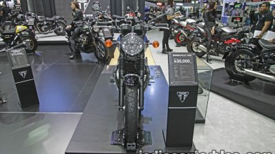New Triumph T100 front at Thai Motor Expo