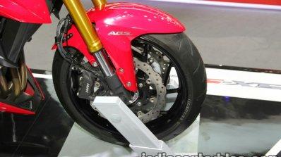 Suzuki GSX-S750 front wheel at Thai Motor Expo