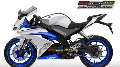 Yamaha R15 v3.0 rendering white side
