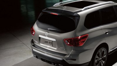 2017 Nissan Pathfinder Midnight Edition rear fascia
