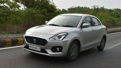 2017 Maruti Dzire front three quarter First Drive Review