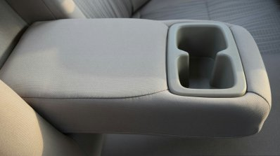 2017 Maruti Dzire rear armrest First Drive Review