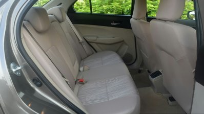 2017 Maruti Dzire rear cabin First Drive Review